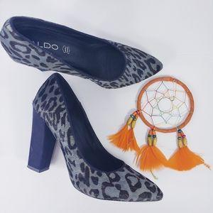 Aldo Leopard Calf Hair Pointed Toe 8.5